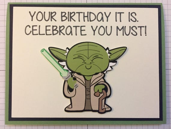 This is a photo of Shocking Star Wars Printable Birthday Cards