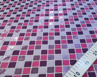Purple and pink jacquard fabric #1106