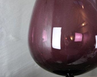 Large Purple Balloon Glass