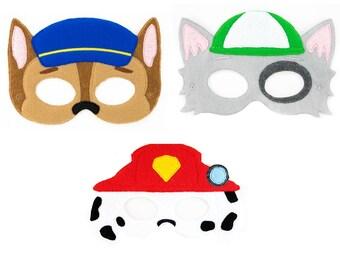 Paw Patrol Masks | Party Masks | Paw Patrol Birthday Party | Birthday Party Masks | Dress Up | Costume | Party Favor | Paw Patrol | Play