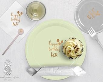 Personalized Plastic Cups | Personalized Plastic Plates | Balloon Party | Swizzle Stir Sticks | Birthday Party Plates, Napkins or Cups