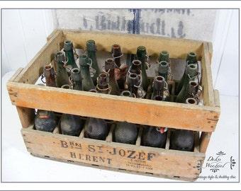 """Old beer box """"Brij St. Jozef"""" incl. bottles from belgium"""