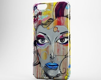 Graffiti iPhone Case iPhone 7 Street Art Phone Case iPhone 7 Plus Girl iPhone 4-5 iPhone 6 Woman iPhone 6 Plus Case iPod Touch Case Galaxy