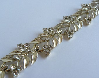 Coro rhinestone bracelet, silver coro rhinestone bracelet, coro bracelet, vintage coro, vintage rhinestone bracelet, vintage bracelet