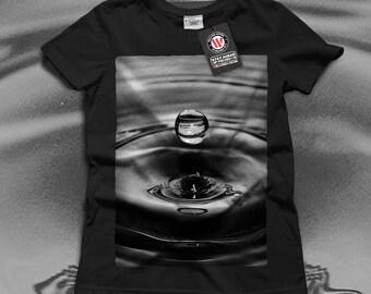 One Water Drop Rain Fall Women Black White Grey Red Royal Blue T-shirt S-2XL NEW   Wellcoda *q997