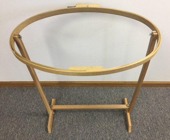 Quilting Embroidery Hoop Floor Stand Oval Wood Frame With Stand ... : quilting hoop stand - Adamdwight.com