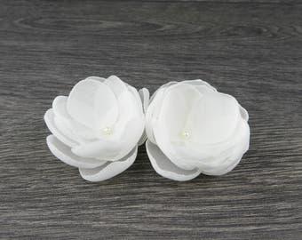 Ivory Bridal Flower - Ivory Hair Clip - Ivory Hair Flower - Ivory Fascinator - Ivory Fabric Flower - Ivory Flower Clip - Ivory Flower Brooch