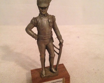 Figurine statue CHESTERMAN Prince GENERAL HAUTPOUL Tin pewter