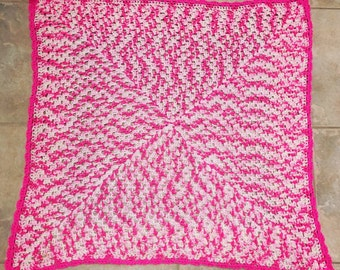 Ready to Ship - Cotton Candy Crocheted Baby Blanket