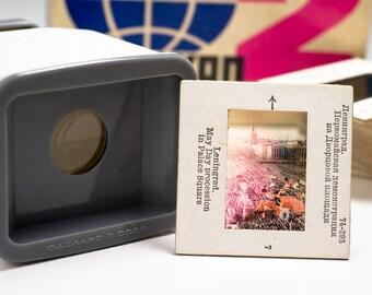 10% OFF Slide viewer. Soviet Diascope. Slide Projector Russia old Photography Camera Portable filmoskop Old slides Photo viewer slides 35mm.