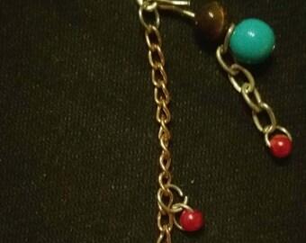Button dreadlock bead cuff