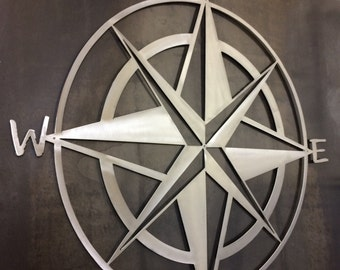 Nautical Star and Compass!! Metal wall art and home decor....Popeye would approve this piece...Designed with and thanks to Adam Saulter!