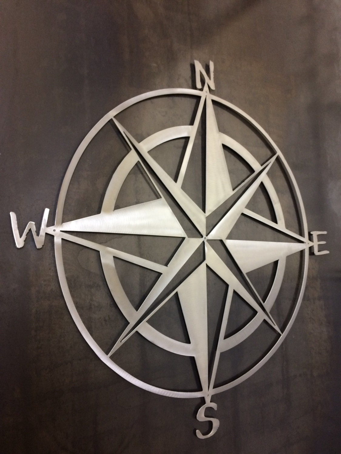 Nautical star and compass metal wall art and home zoom amipublicfo Gallery