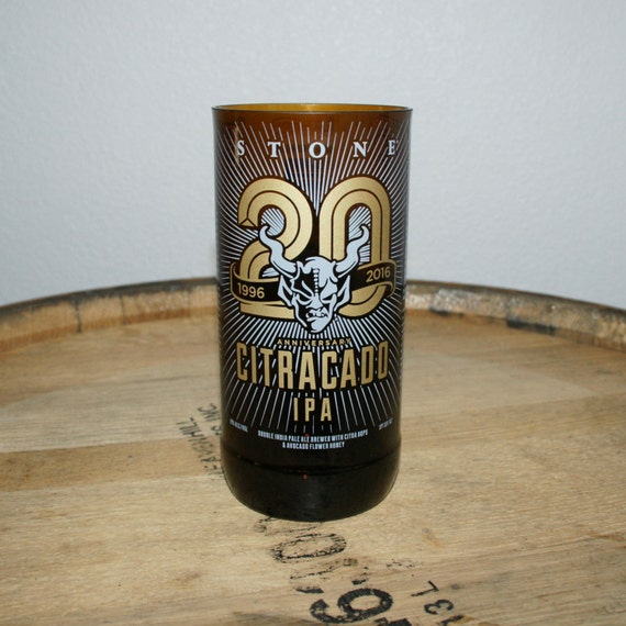 UPcycled Pint Glass - Stone Brewing Co - 20th Anniversary Citracado IPA