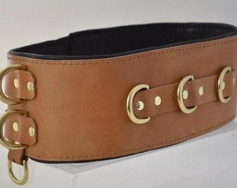 Waist Belt Restraint - Tan/Brass