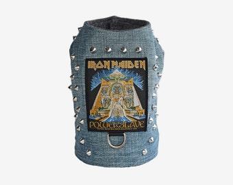 Iron Maiden inspired Powerslave Studded Denim Vest