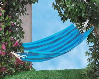 Outdoor Fiesta Blue Stripe Hammock