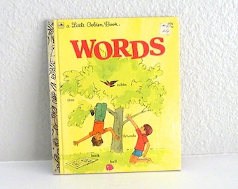 Words Vintage Little Golden Book