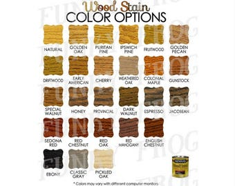 Download Wood Stain Color Options Chart