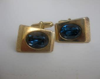 old, elegant glass cufflinks
