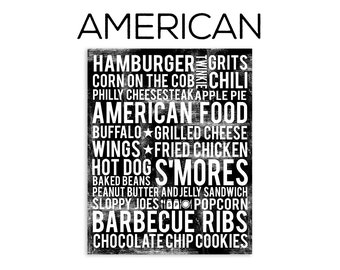 American Food Subway Art Print - American Food Poster - Various Sizes & Colors