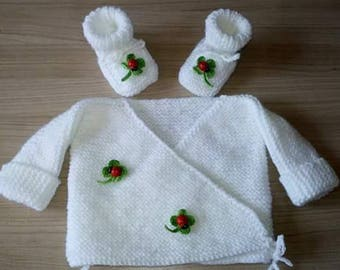 Baby set jacket and booties