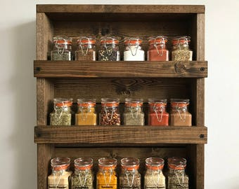 kitchen spice rack rustic wood wall mounted spice organizer spice rack three shelves kitchen
