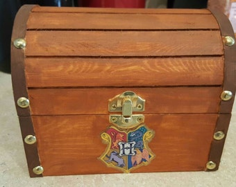 Harry Potter Hogwarts Trunk Wooden Jewelry Box