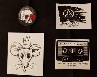 Vinyl punk stickers (individual)