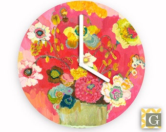 Wall Clock by GABBYClocks - Lime Glory Grande by Kimberly Hodges