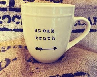 Speak truth CREAM MUG
