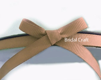 "Champange Tan 1/4"" Grosgrain Ribbon 25 yards"