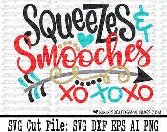 XOXO hugs & kisses svg, Valentines Day SVG, new baby svg, valentine cut file, heart svg, cupid svg, socuteappliques, boys valentine svg