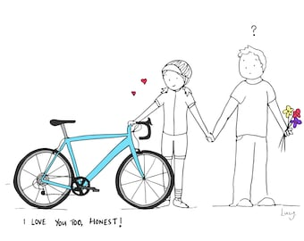 I love you and my bike (valentines day card)