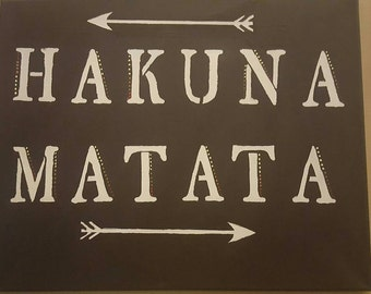 Lion king sign, hakuna matata, lion king canvas, disney canvas