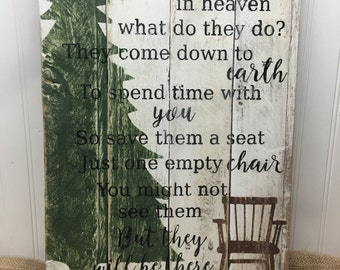 Rustic Pallet Wall Art - Christmas in Heaven Sign - Wood Wall Sign - Christmas Gift - Christmas Holiday Decor - Bereavement Sign 14x20