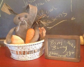 Whimisical bunny in basket