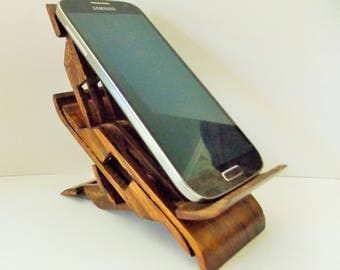 Unique stand for gadgets solid wood