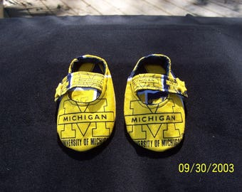 Baby Girls University of Michigan Mary Jane Style Baby Booties