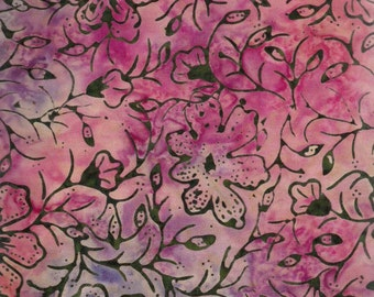 Timeless Treasures Tonga batik fabric in Melon