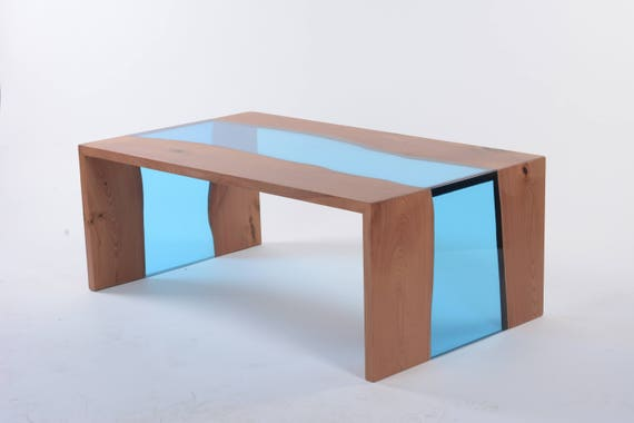 Resin river coffee table Waterfall coffee table Modern