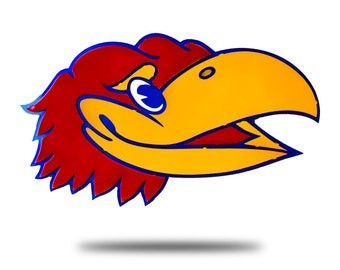 University of Kansas Jayhawk Head