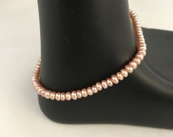 Freshwater pearl bracelet, pink button pearl bracelet, pink pearl bracelet, pearl bracelet, bracelet pearl