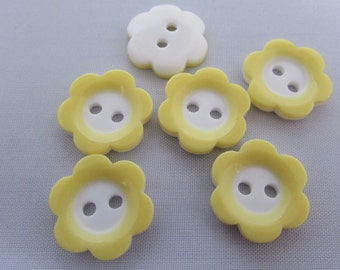 Yellow and White Flower Buttons