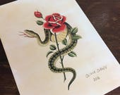 Traditional snake print by Olivia Dawn #33