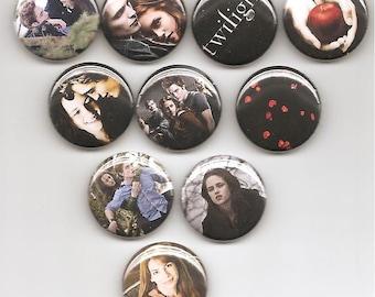 The Twilight Saga 10 Pins buttons pinbacks badges