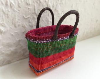 Minature Dollhouse Shopping Basket, Provence style