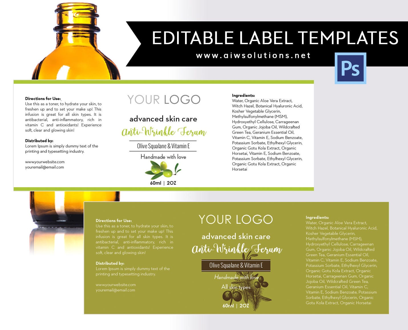 Olive label template product labelolive Skin Care label – Product Label Template