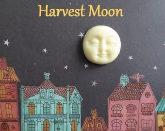 Harvest Moon Silicone Mold Cake Tool Fondant Chocolate Candy DIY Cupcake Topper Decoration Polymer Clay Craft Full Moon Face