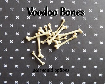 Voodoo Skeleton Bone Silicone Mold Cake Tool Fondant Chocolate Candy DIY Cupcake Topper Decorations Polymer Clay Craft Halloween
